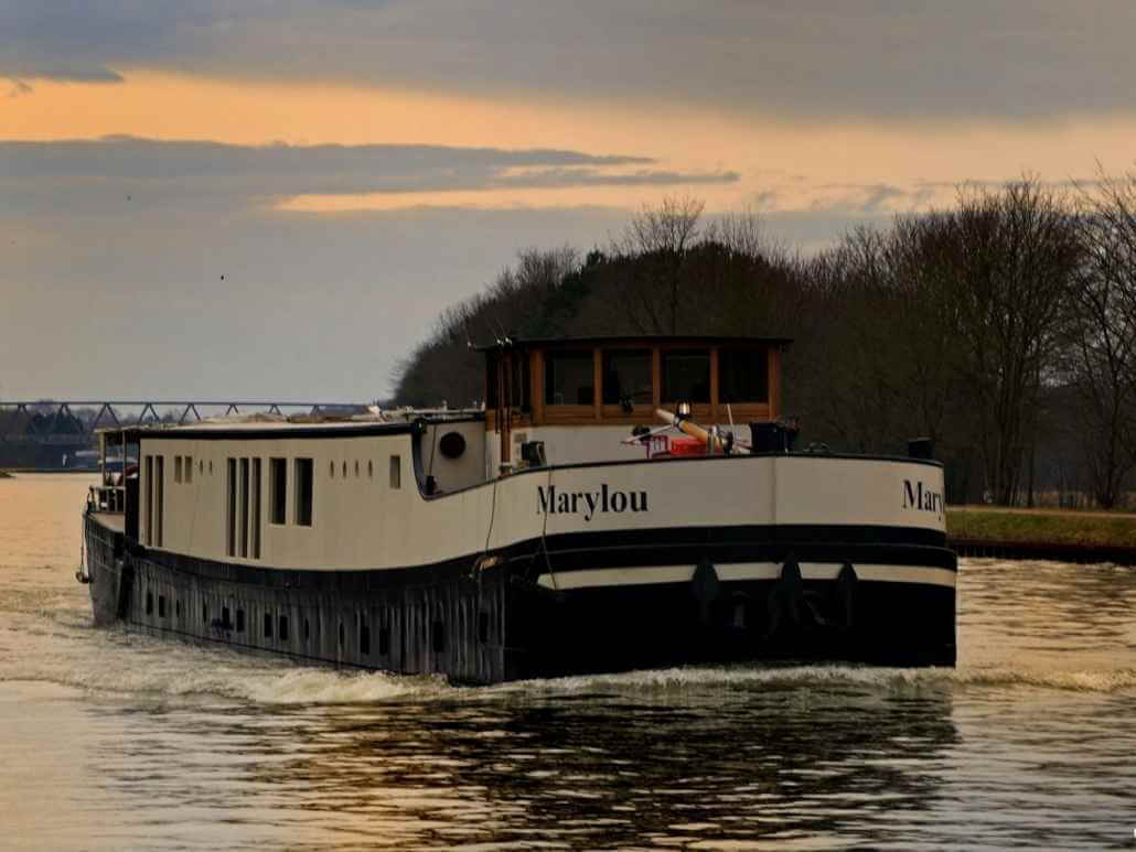 Frontansicht der MS Marylou